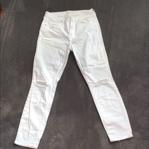 Pacsun white mid-rise skinniest jeans.  NWOT